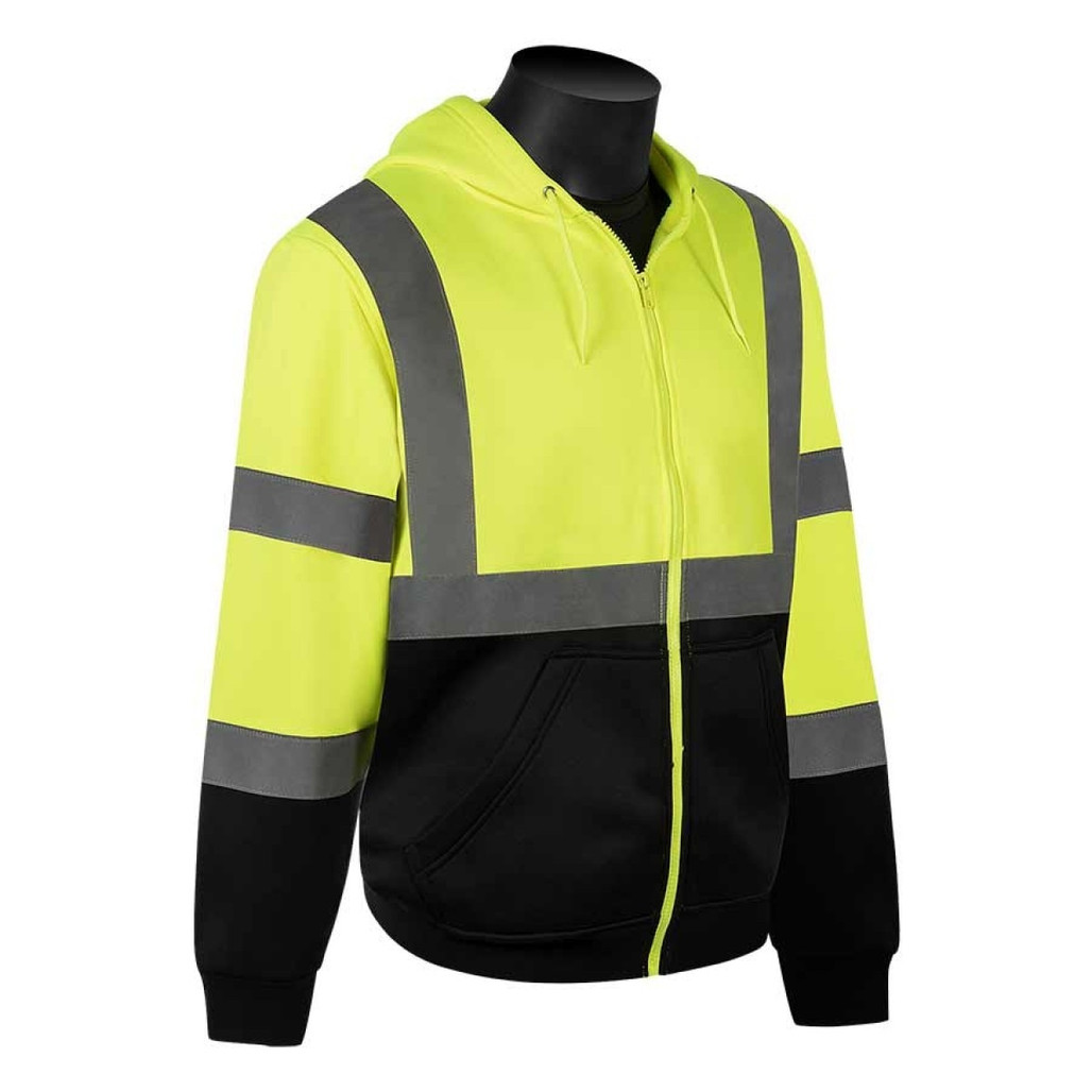 Get HivizGard Class 3 Safety Sweatshirt, Lime Green with Black Bottom Front, ea LB16734GB at Harmony