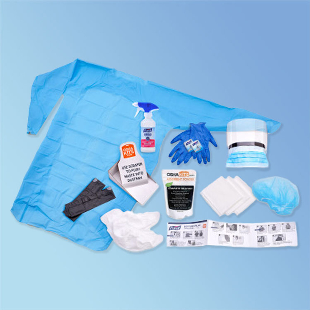 Purrell Body Spill Fluid Kit, components displayed