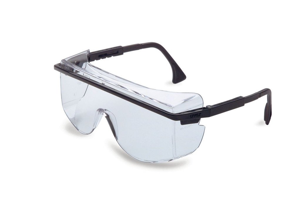 Uvex Astrospec OTG 3001, Clear Lens, Black Frame, ea   Harmony Lab and Safety Supplies