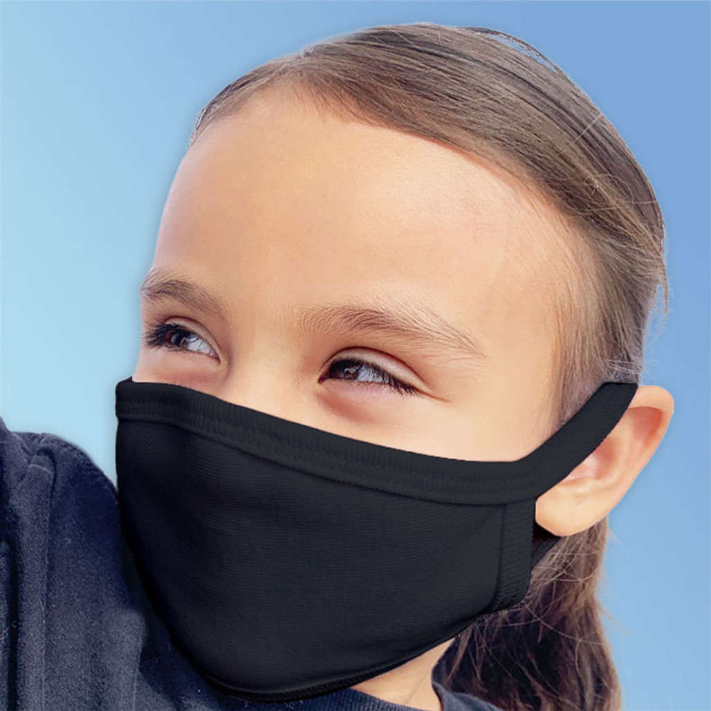 Child Size Reusable Cotton Face Masks, Made in USA   Harmony Lab & Safety Supplies