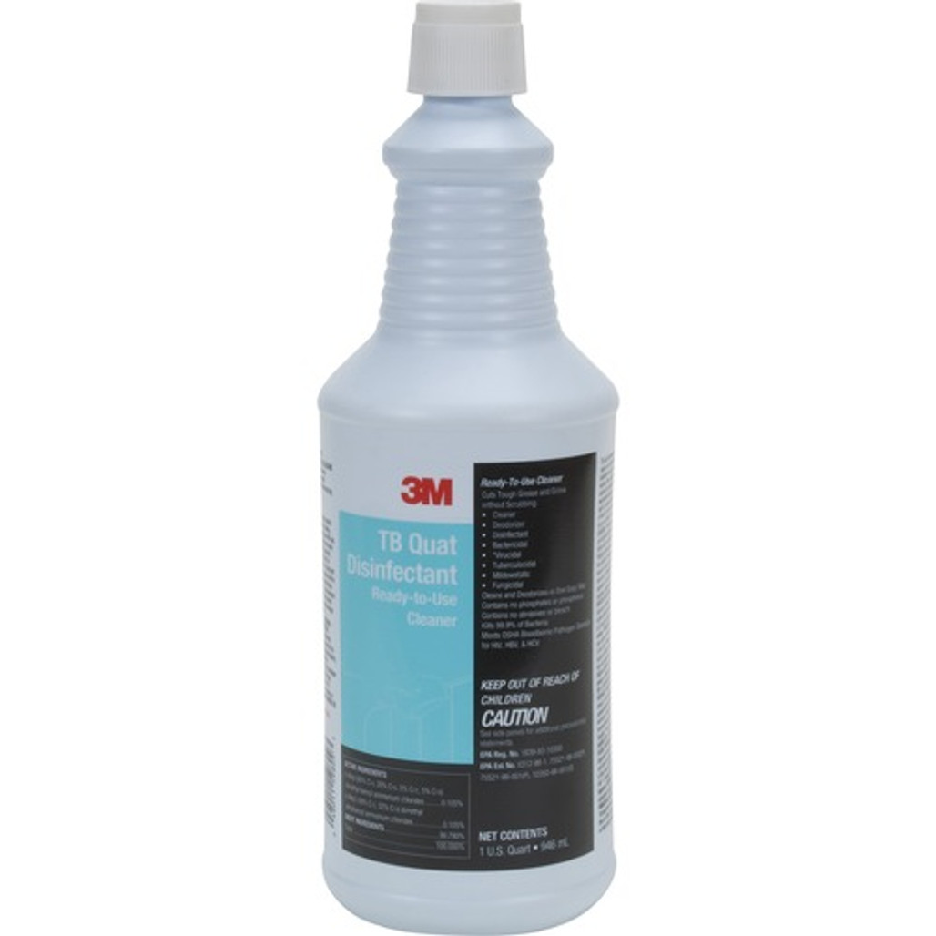 Get 3M TB Quat Disinfectant Ready-To-Use Cleaner, 32 oz Bottle, 12/case at Harmony Lab & Safety Supplies.