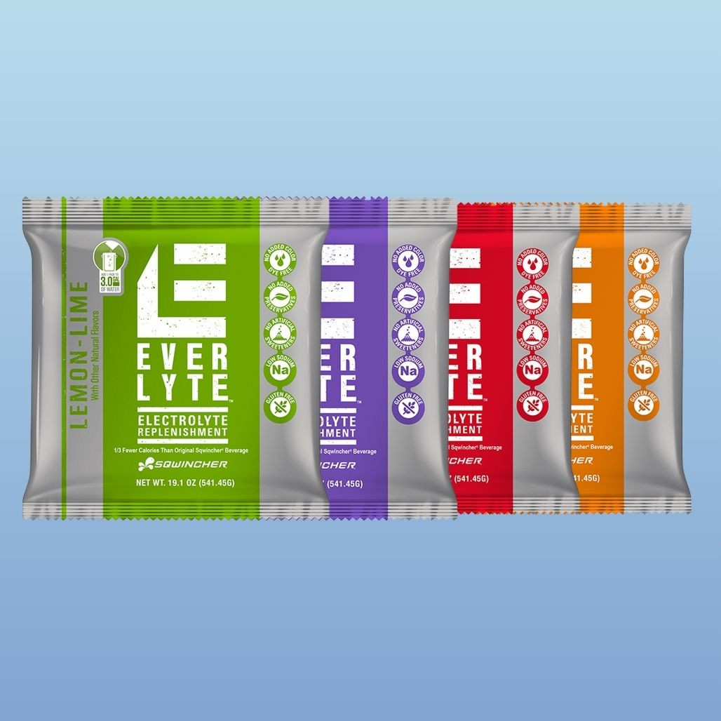 Sqwincher Everlyte Drink Mix - 4 Flavors to Choose From - Lemon Line, Grape, Fruit Punch, Orange