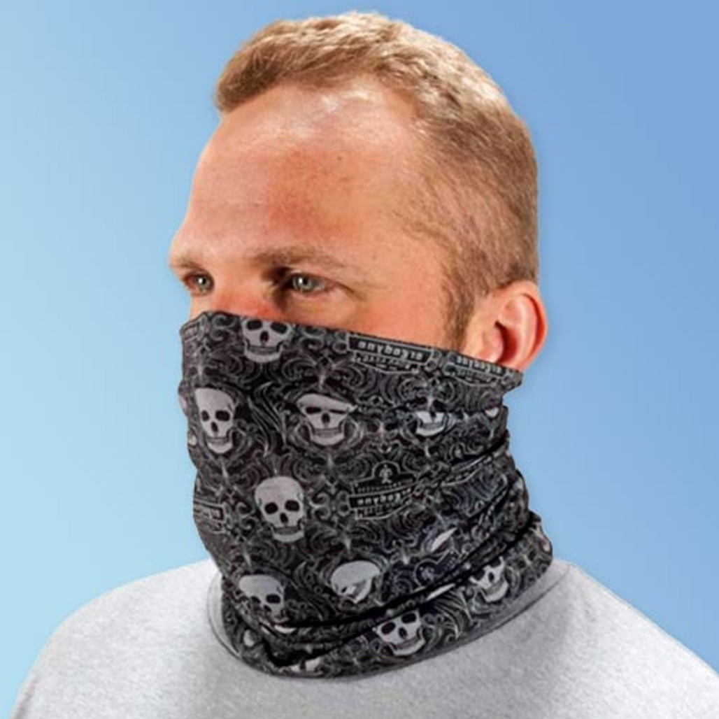 Ergodyne Chill-Its® 6485 Multi-Band PPE Safety Headwear  with Skull Print (42112) at Harmony