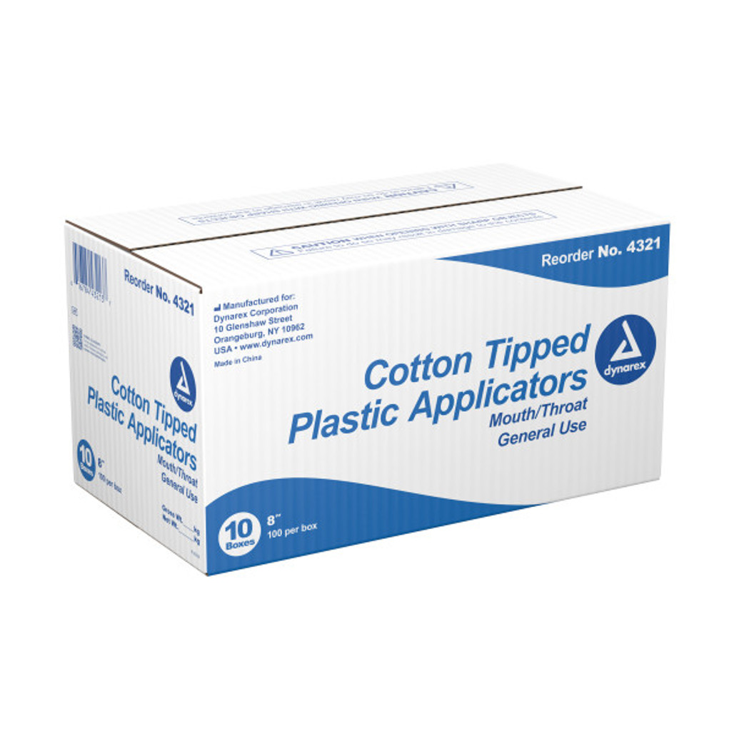 """Get Dynarex Large Tip Cotton Tipped Plastic Applicator, 8"""", 1000/case, 4321, at Harmony Lab & Safety Supplies"""