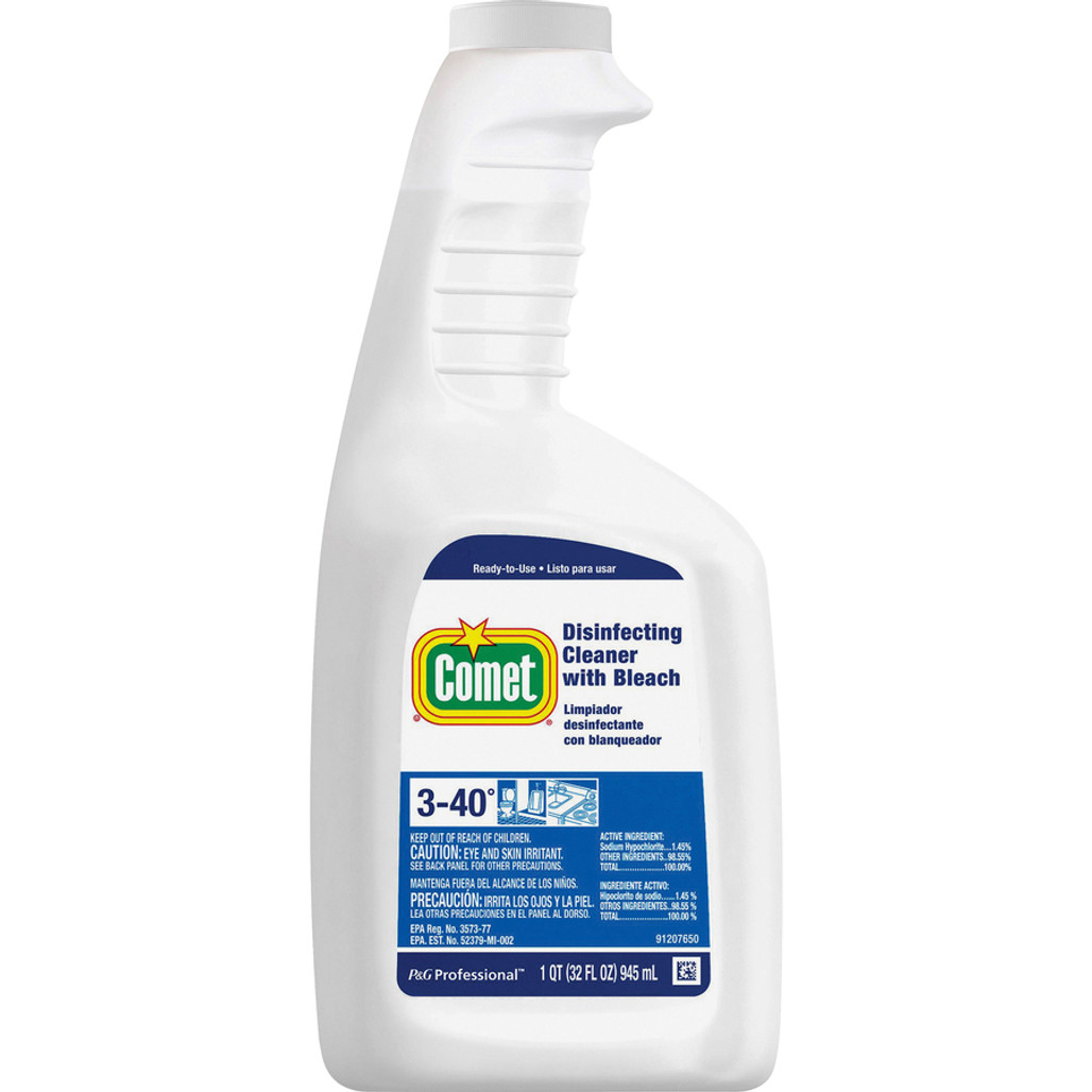 Comet Disinfectant Cleaner with Bleach, 32 oz Screw Top Bottle (30314CT) at Harmony Lab & Safety.