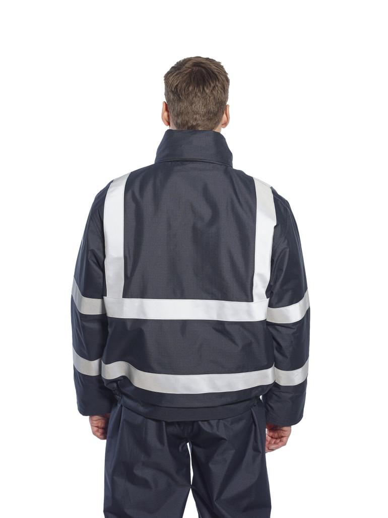 Get Bizflame Flame Resistant Bomber Jacket, Navy (S783) at Harmony Lab & Safety Supplies