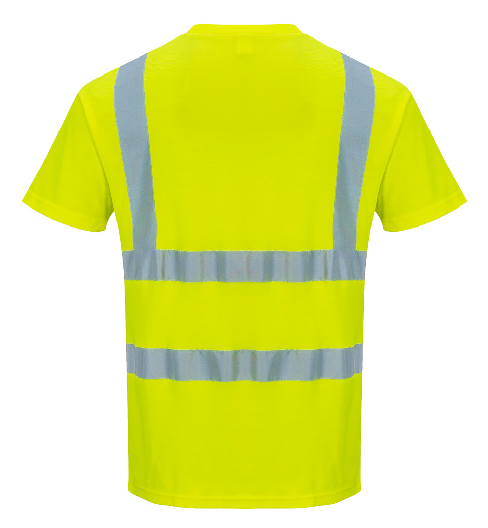 Get Portwest Class 2 Hi-Vis Safety T-Shirt, Short Sleeves, Yellow (S478) at Harmony Lab & Safety Supplies