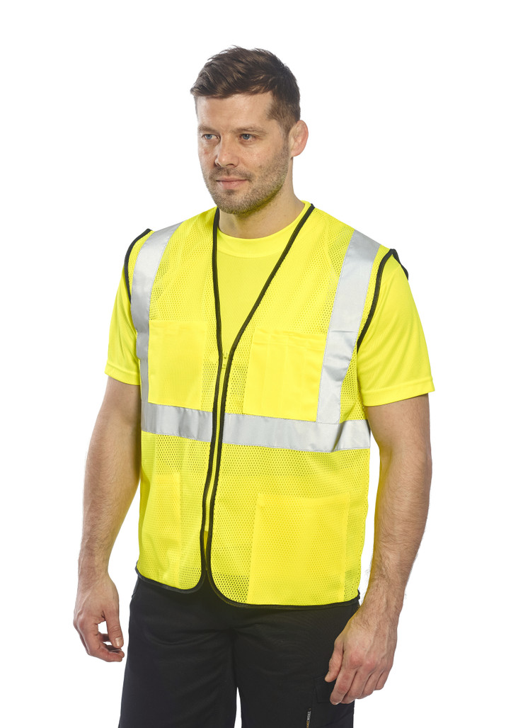 Portwest US380 ANSI Class 2 Tampa Mesh Safety Vest by Harmony Lab & Safety Supplies.