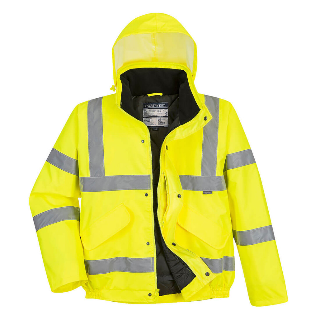Portwest US463YER Class 3 Hi-Vis Insulated Bomber Jacket by Harmony Lab & Safety Supplies