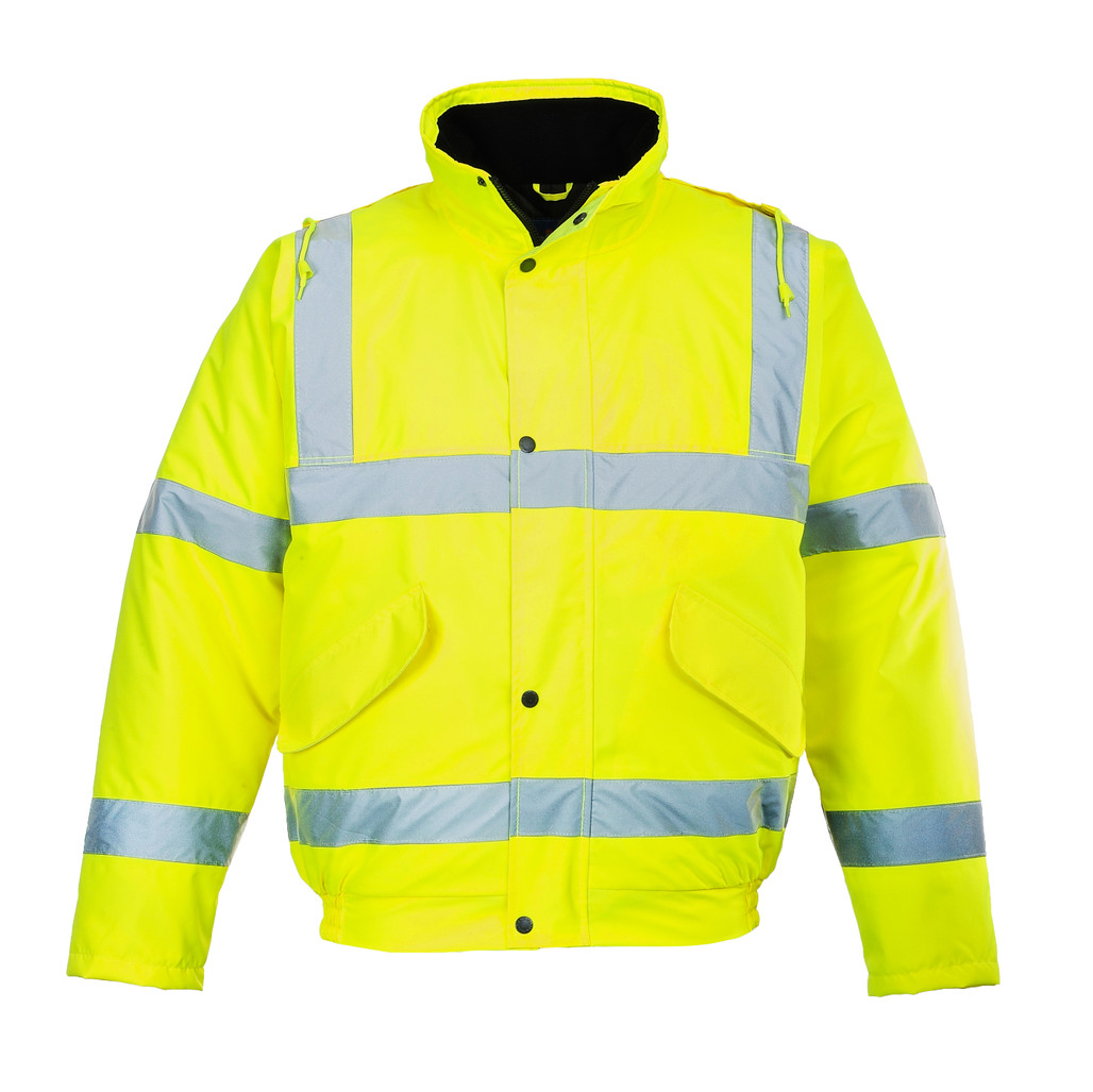 Portwest US463 Class 3 Hi-Vis Bomber Jacket with quilt lining by Harmony Lab & Safety Supplies