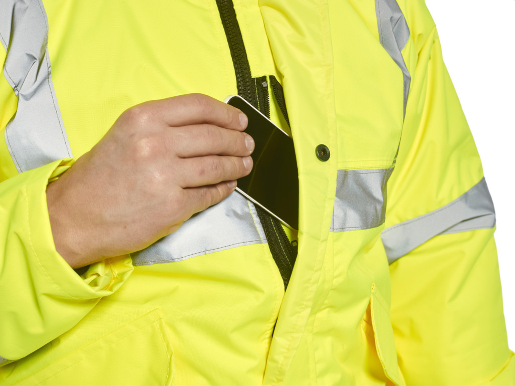 Portwest US463 Class 3 Hi-Vis Insulated Bomber Jacket with 4 pockets by Harmony Lab & Safety Supplies.
