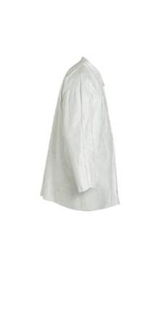 DuPont Tyvek 400 TY303S WH Shirts, Open Wrist, Snap Front, 50/case   Harmony Lab and Safety Supplies