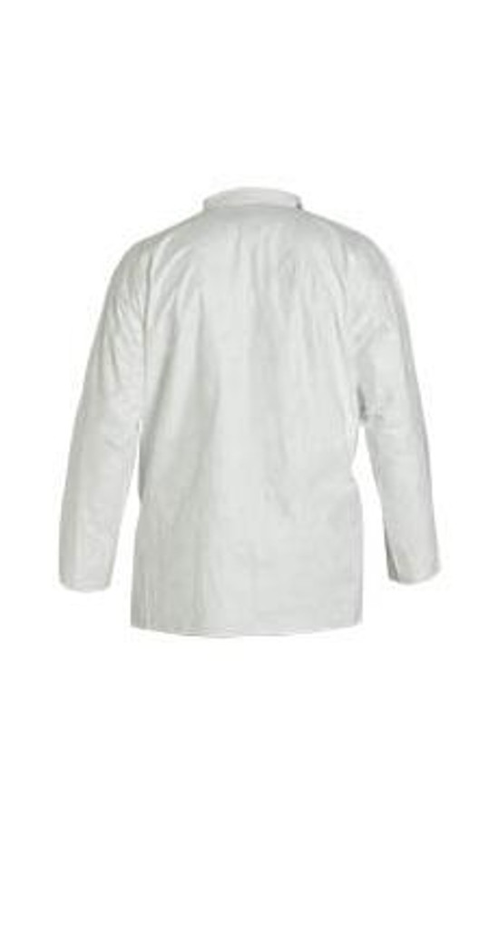 DuPont Tyvek 400 TY303SWH Shirts, Open Wrist, Snap Front, 50/case   Harmony Lab and Safety Supplies