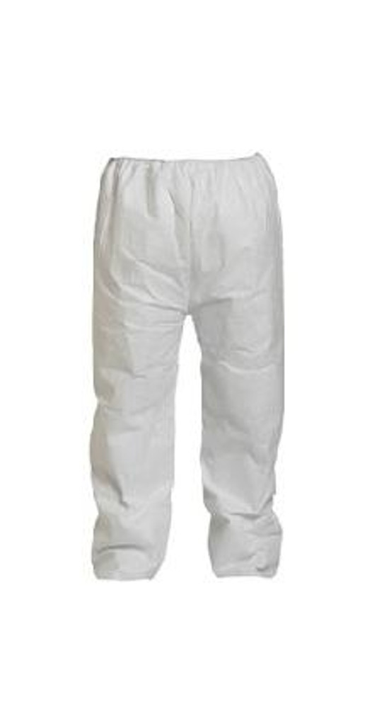 DuPont Tyvek 400 TY350S WH Pants, Elastic Waist, 50/case | Harmony Lab and Safety Supplies