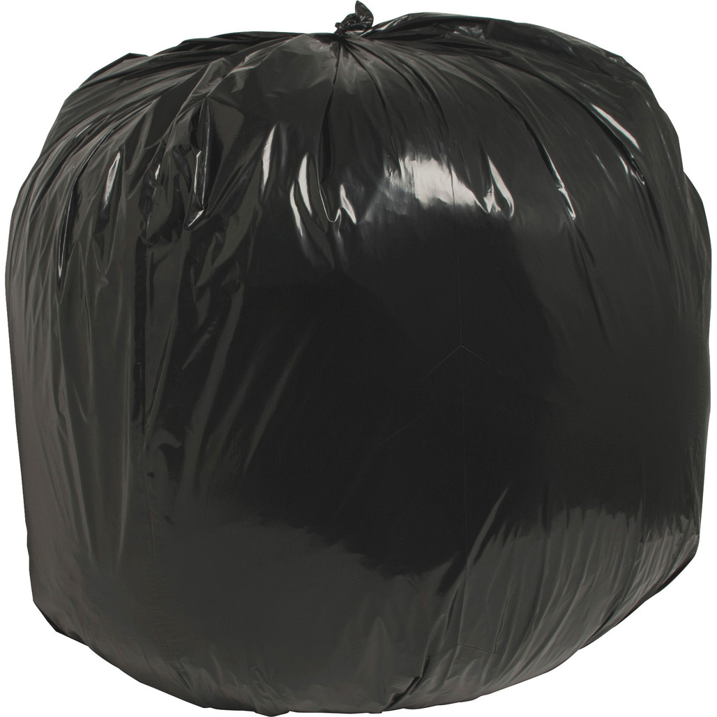 """Nature Saver 00990 40"""" x 46"""" Black Low Density Trash Can Liner, 40 Gal Black, 1.25 Mil, 100/case 