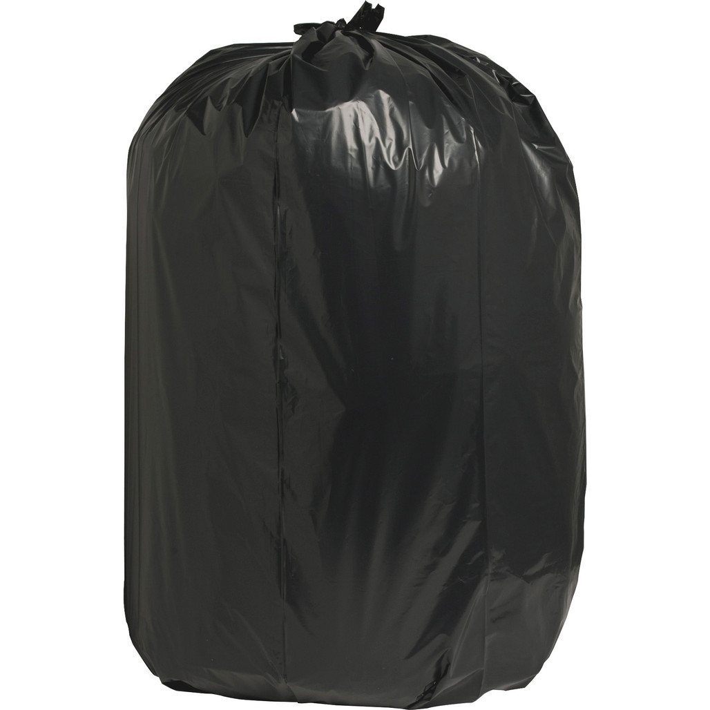 Nature Saver 00994 Black Low Density Trash Can Liners, 38 x 58 in., 55 Gal, 1.65 Mil, 100/case   Harmony Lab and Safety Supplies