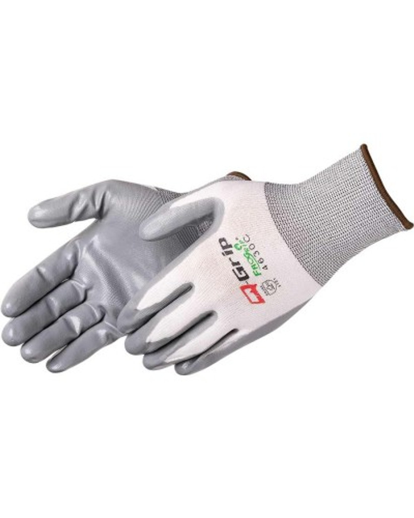 Q-Grip 4630C Nitrile Coated Glove, Gray/White, 12/pair LB4630C at Harmony Lab and Safety Supplies