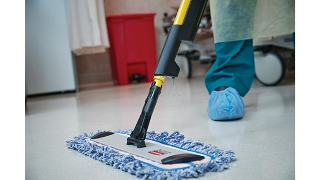 """Rubbermaid Commercial Hygen 18"""" Microfiber High Absorbency Mop Pad for heavy duty cleaning and spills 