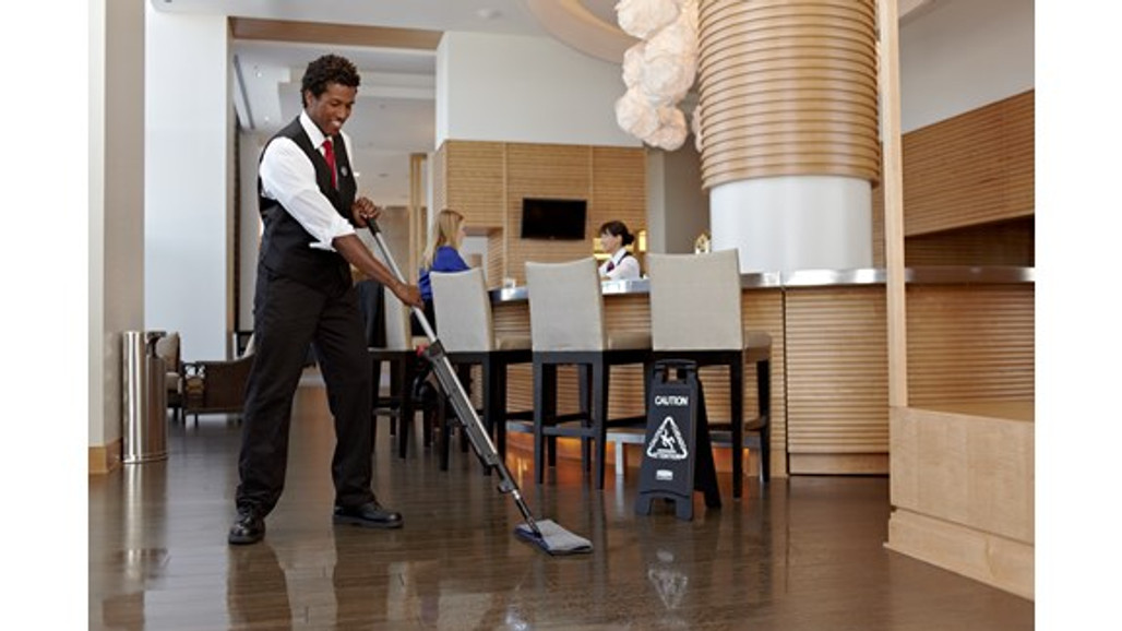 Rubbermaid Commercial Executive Series Hygen™ Pulse™ Bucket-less Mopping System allow staff to blend in   Harmony Lab and Safety Supplies