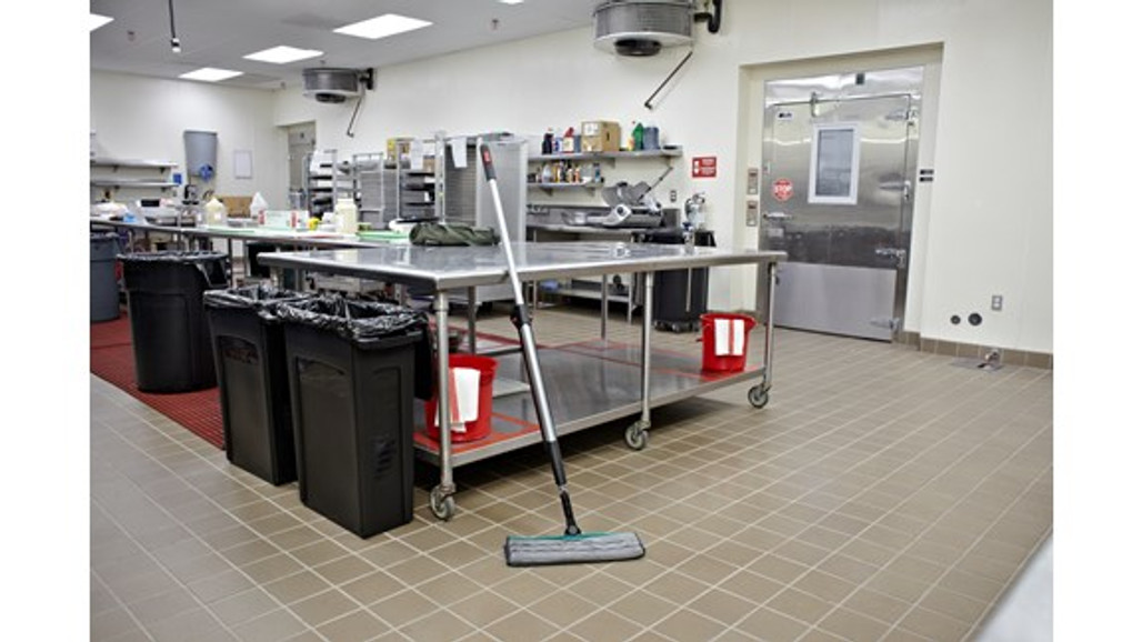 Rubbermaid Commercial Executive Series Hygen™ Pulse™ Bucket-less Mopping System for discreet cleaning   Harmony Lab and Safety Supplies