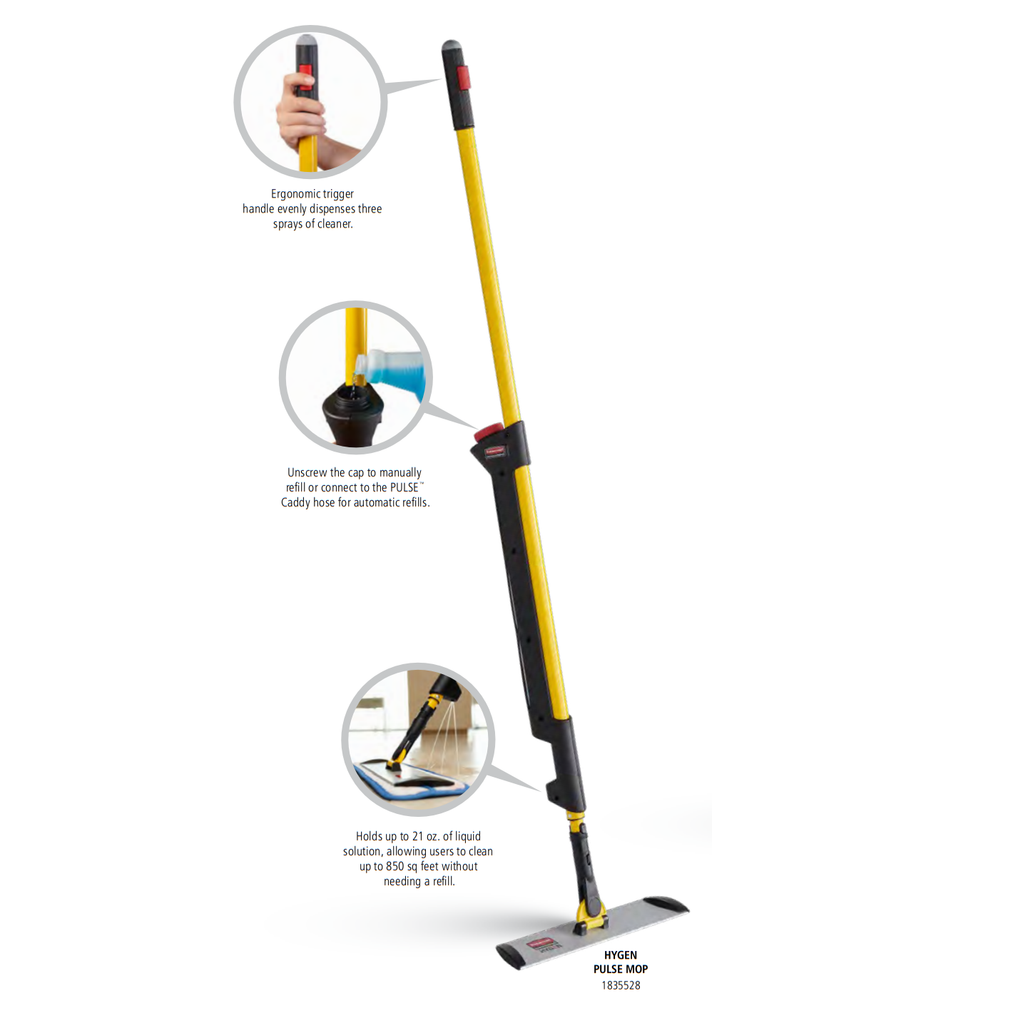 Rubbermaid Commercial Hygen™ Pulse™ Bucket-less Mopping System   Harmony Lab and Safety Supplies