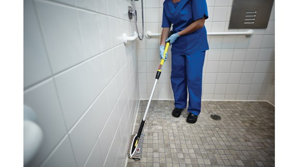 """Rubbermaid Commercial Hygen 11"""" Flexi-Frame for cleaning hard to reach areas