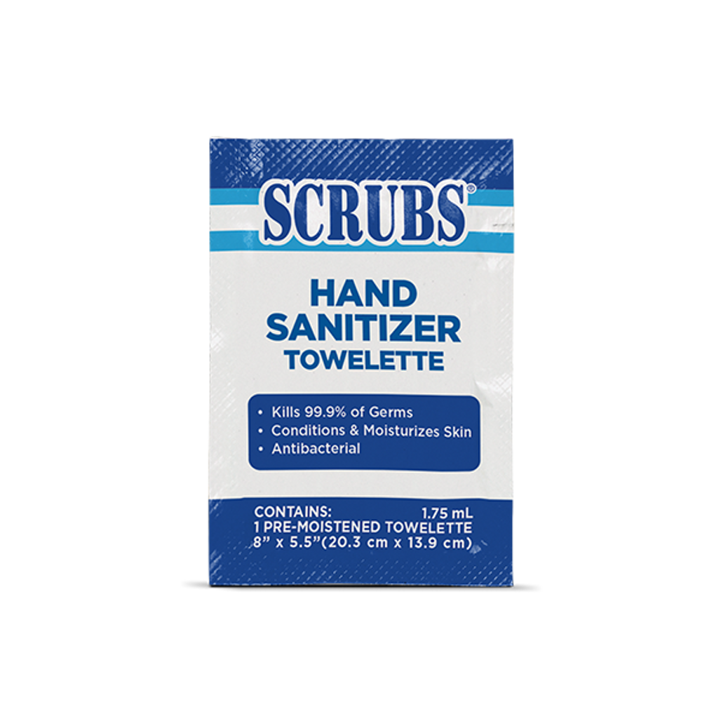 SCRUBS Hand Sanitizing Towelette (ITW 94901) | Harmony lab & Safety Supplies