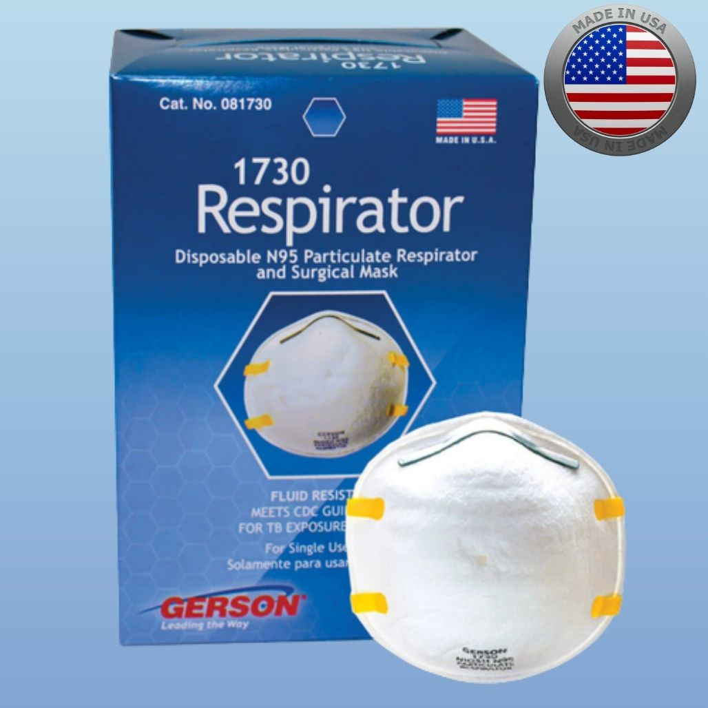 Gerson 1730 N95 Mask, box of 20