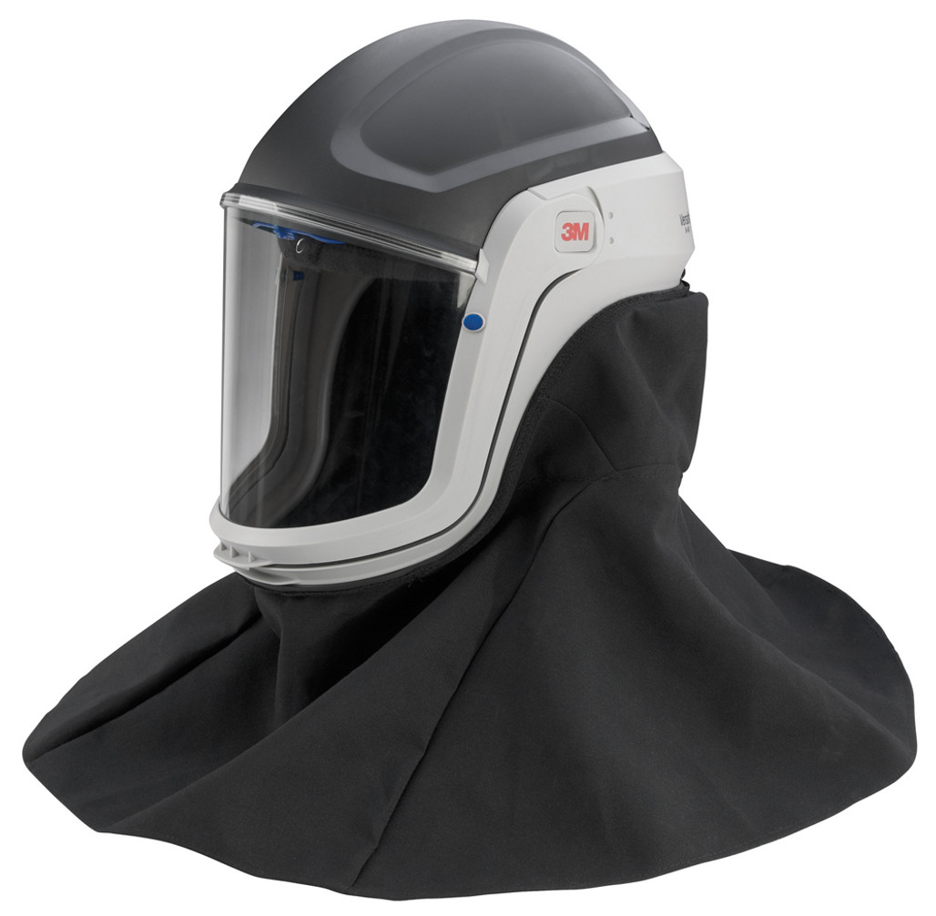 3M Versaflo M-407 Respiratory Helmet Assembly with Premium Visor and Flame Resistant Shroud   Harmony Lab & Safety Supplies