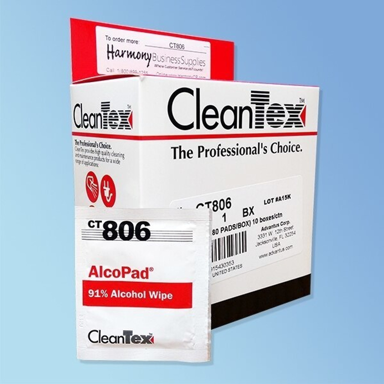 CleanTex 91% Alcohol Wipes