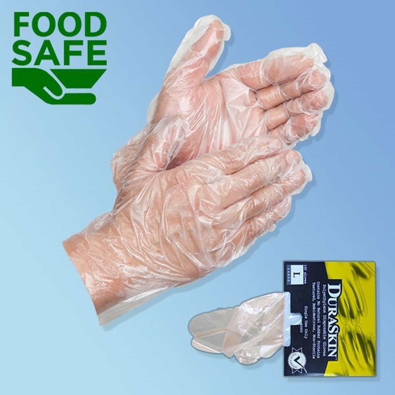 Disposable Food Service Gloves, 1 25 mil
