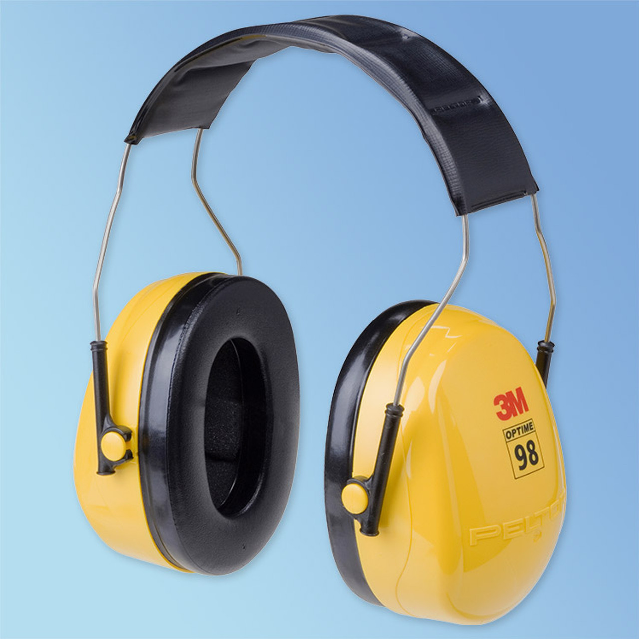 3M H9A Ear Muff,25dB,Over-the-Head,Yellow