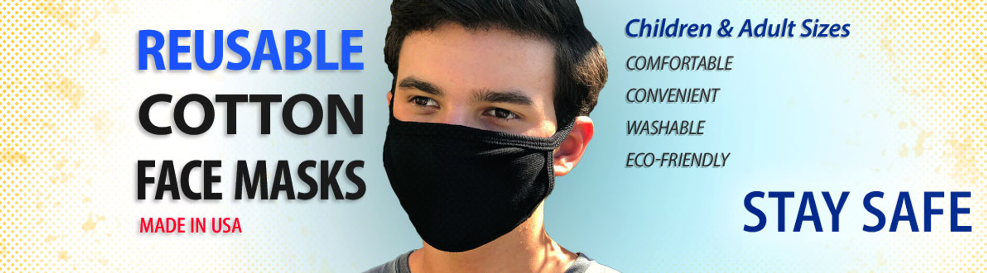 Reusable Cotton Face Masks Made in USA