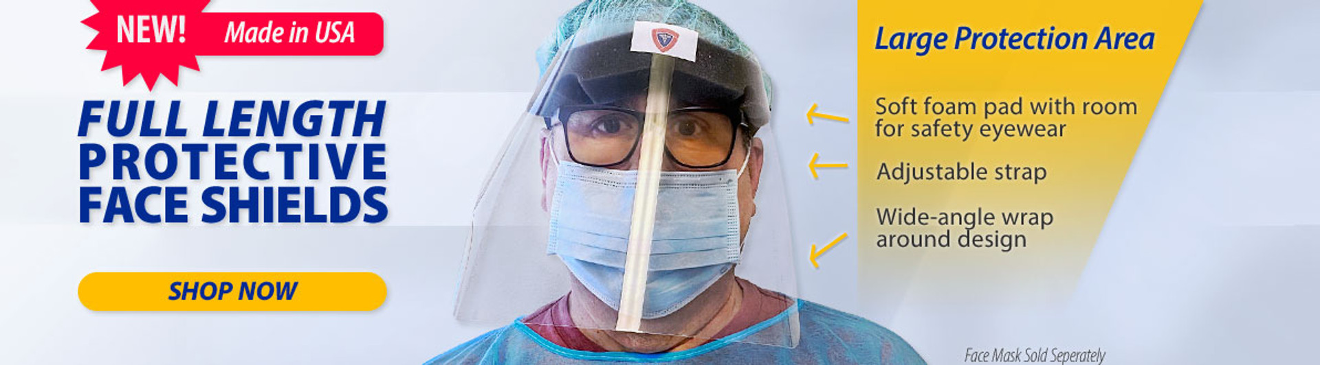Full Length Protective Face Shields
