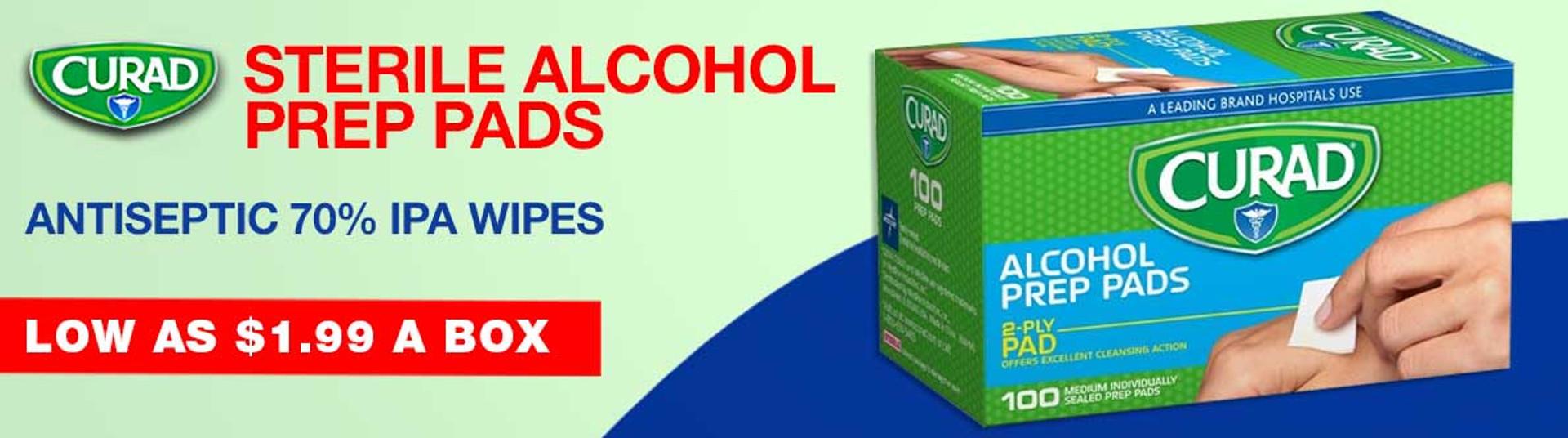 Curad Sterile Alcohol Prep Pads