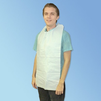 Medline NON24268 Disposable Adult Bibs with Ties
