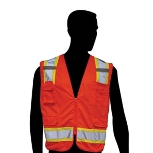 Get HivizGard Class 2 Solid Front/Mesh Back Surveyor's Vest, Orange LBC16012F at Harmony