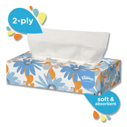 Kimberly Clark Kleenex Facial Tissue, 125 tissues/box, 12 boxes/case | Harmony Lab and Safety Supplies