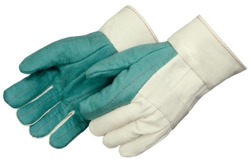 Get Green Hot Mill Glove, Double Palm, Burlap Reinforced Lining, LG, 12/pr LIB4571B at Harmony
