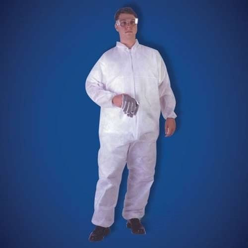 Get KeyGuard White Microporous Coveralls, elastic wrist & ankle, 25/cs T180-MPC at Harmony
