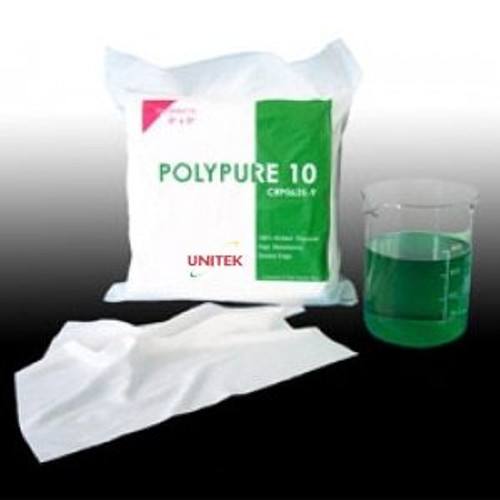 """UNITEK PolyPure 10 Class 10 Cleanroom Polyester Wipes with Ultrasonic Sealed Edges 