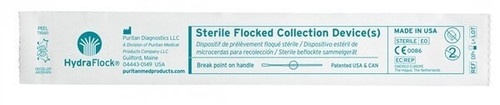 Sterile HydraFlock Flocked Swab, Elongated Tip, No Breakpoint, 500/case | Harmony Lab and Safety Supplies