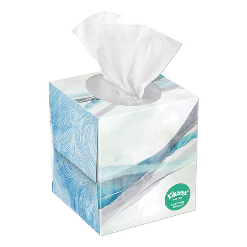 Kleenex Lotion 2 Ply Facial Tissue, 65/box, 27 boxes/case | Harmony Lab and Safety Supplies