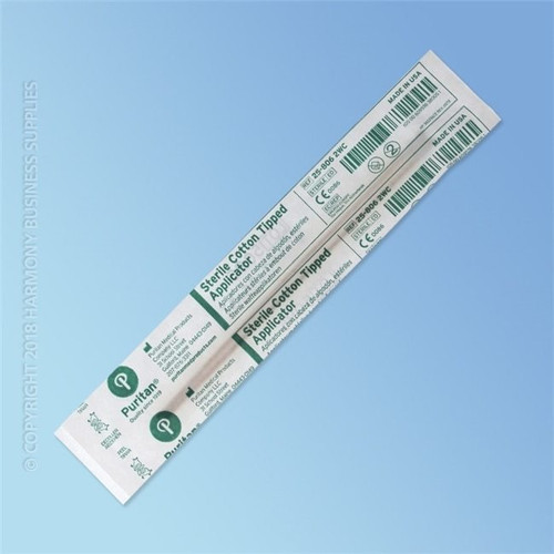 Puritan Sterile Cotton Swab, 6 in., Wood Shaft | Harmony Lab and Safety Supplies