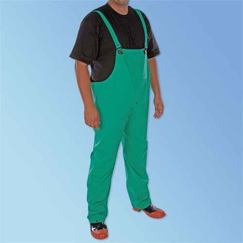 PVC/Nylon/PVC Green 2-Piece Acid Suit, each | Harmony Lab and Safety Supplies
