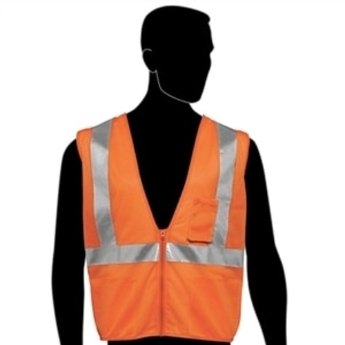 HivizGard Class 2 Mesh Safety Vest, Orange, each | Harmony Lab and Safety Supplies