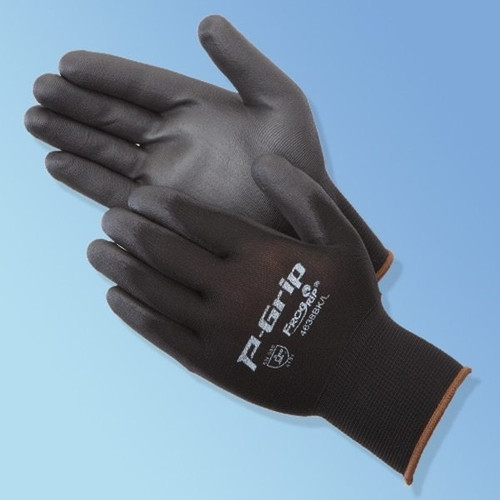 Get P-Grip Ultra-Thin Polyurethane Coated Glove, Black/Black LIBP4638BK at Harmony