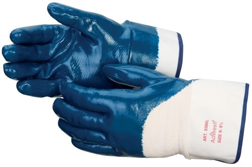 Get Smooth Finish Nitrile Coated Glove, Safety Cuff, Blue, 12/pair LIB9360SP at Harmony