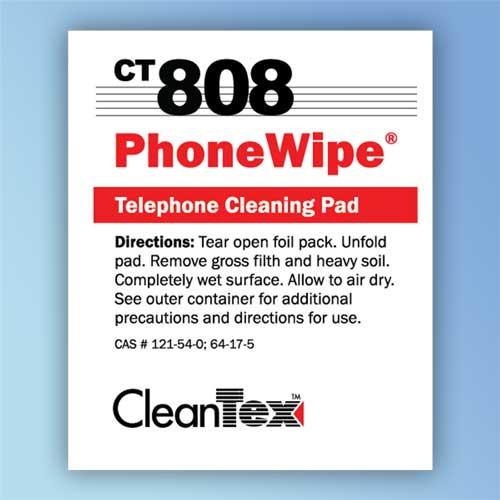 Get CleanTex CT808 PhoneWipe Cleaning Pad Wipes CT808-Phone-Wipes at Harmony