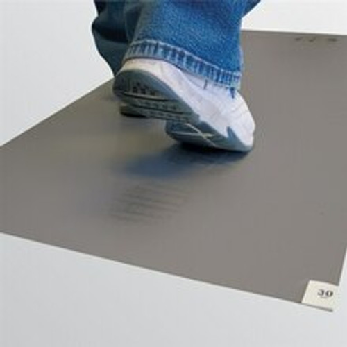 """Get Cleanroom Adhesive Mats, 18"""" x 36"""", Grey, 4/case TMAT1836-GY at Harmony Lab & Safety Supplies"""